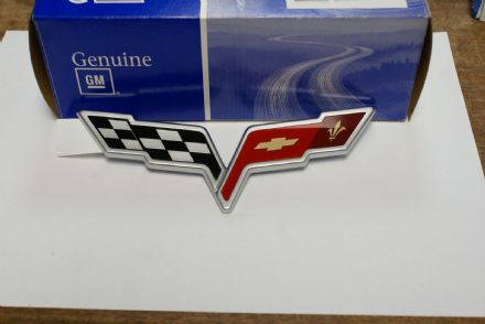 2005-2008 C6 Corvette,Rear Bumper Emblem,New